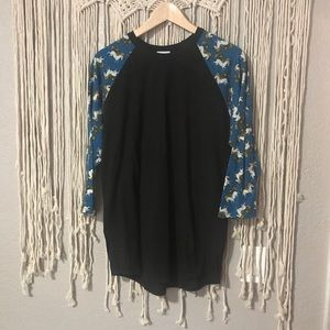 LuLaRoe Randy unicorn top XL